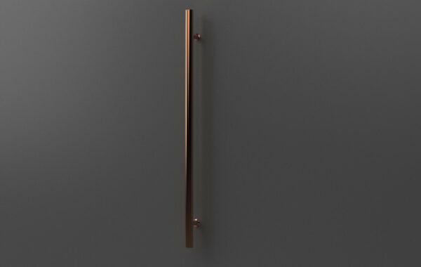 Pirnar-alu-eingangstuer-aussengriff-bronze-effekt-rund