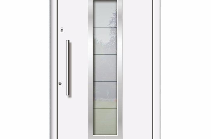 Pirnar-alu-eingangstuer-optimum-carbon-core-7160-weiss-satinato-glas