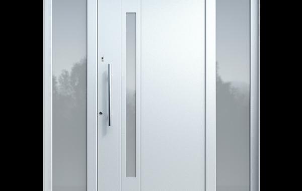Pirnar-alu-eingangstuer-optimum-carbon-core-7310-weiss-satinato-glas-esg-glas