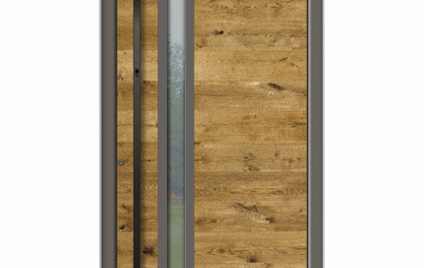 Pirnar-alu-eingangstuer-optimum-carbon-core-7320-holz-dekor-eiche-natur-eckig-nero-aussengriff-1