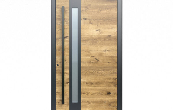 Pirnar-alu-eingangstuer-optimum-carbon-core-7320-holz-dekor-eiche-natur-eckig-nero-aussengriff