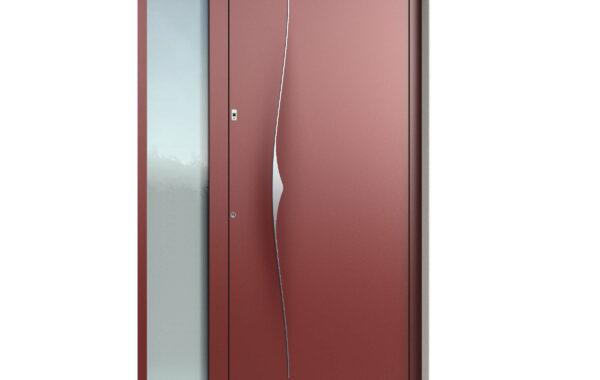 Pirnar-alu-eingangstuer-premium-6017-rot-eleganter-aussengriff-9619