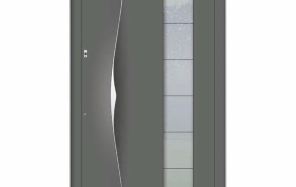 Pirnar-alu-eingangstuer-premium-6018-eleganter-aussengriff-9619-satinato-glas-1