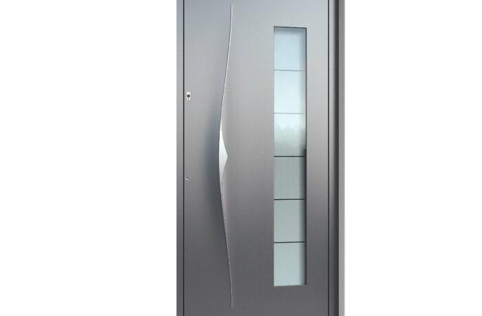 Pirnar-alu-eingangstuer-premium-6018-eleganter-aussengriff-9619-satinato-glas