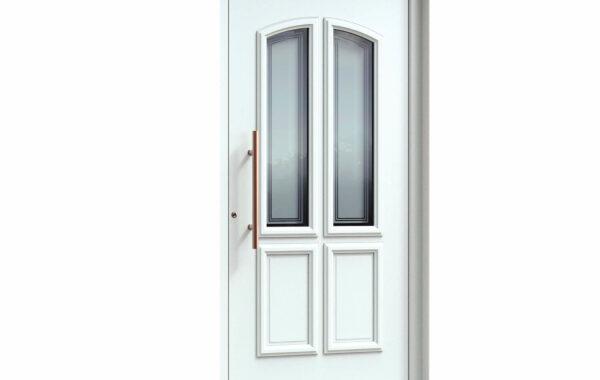 Pirnar-alu-eingangstuer-premium-classico-3181-bronze-effekt-aussengriff-satinato-glas-mit-motiv