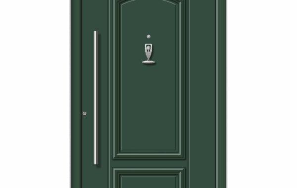 Pirnar-alu-eingangstuer-premium-classico-3200-gruen-peephole-knocker