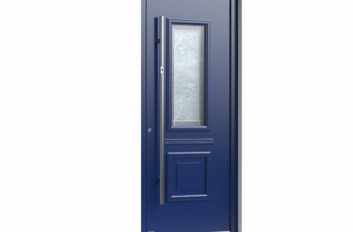 Pirnar-alu-eingangstuer-premium-classico-3340-blau-bleiverglasung-mit-motiv