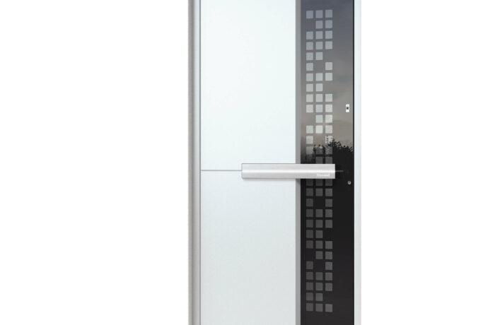 Pirnar-alu-eingangstuer-ultimum-multilevel-515-esg-glas-mit-schwarzem-motiv-aussen-labelux