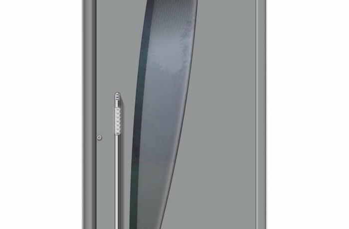 Pirnar-alu-eingangstuer-ultimum-multilevel-529-esg-glas-dark-grey-mit-schwarzem-motiv-1
